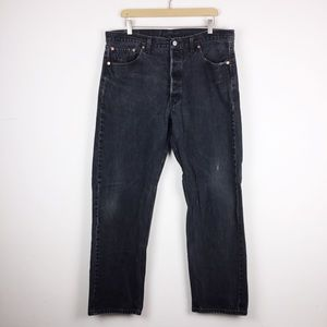 Vintage Levi's 501 faded black mom jeans dad jeans